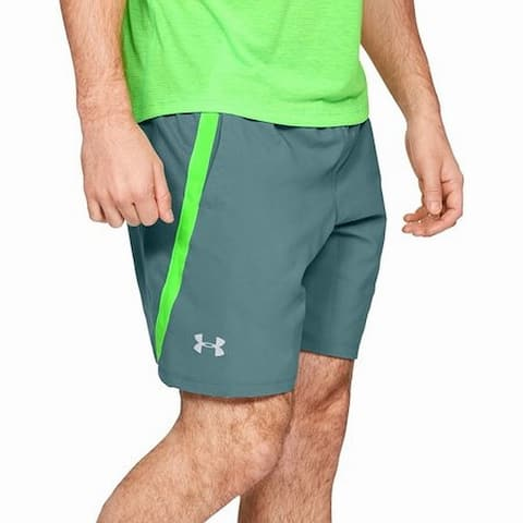 Under Armour Mens Bottoms Turquoise Green Size 2XL Activewear Shorts