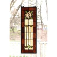 Meyda Tiffany 67791 Stained Glass Tiffany Window from the Arts & Crafts Collection - n/a