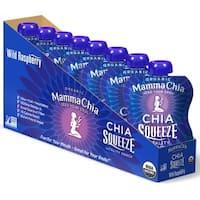 Mamma Chia Wild Raspberry Organic Vitality Snack - Case of 16 - 3.5 oz.