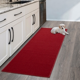 Link to Sweet Home Stores Solid Aisle Hallway Kitchen Non-Slip Runner Rug Similar Items in Rugs