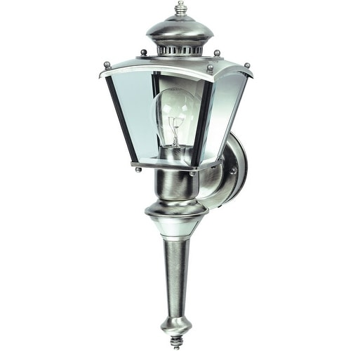 Heath Zenith HZ-4150-SV 150 Degree Motion Activated Decorative Light, Satin Chrome