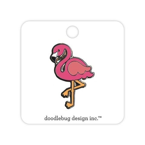 Doodlebug Fun In The Sun Enamel Pin Flamingo