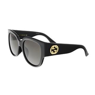 Gucci GG0142SA 001 Black Round Sunglasses - 55-20-140