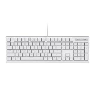 Monoprice Brown Switch Full Size Mechanical Keyboard - White - Workstream