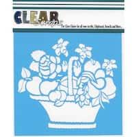 "Clear Scraps Stencils 6""X6""-Mixed Basket"