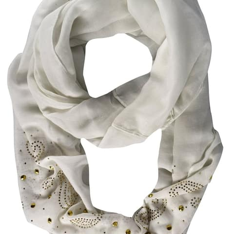 Vintage Embellished Paisley Sequin Infinity Scarf Circle Loop - one size