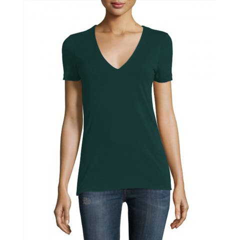 James Perse Teal V Neck Short Sleeve TShirt