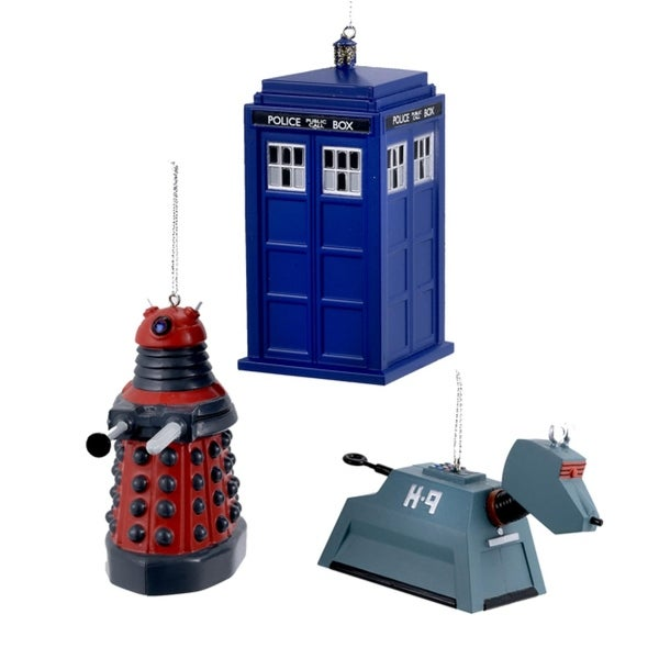 Pack of 24 Various Dr. Who Characters Christmas Ornaments 4.5""