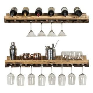 """Del Hutson Designs Rustic Luxe Stemware Shelf Set, 36"""""""