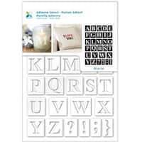 "Serif Alphabet - Momenta Adhesive Stencil 6""X8"""