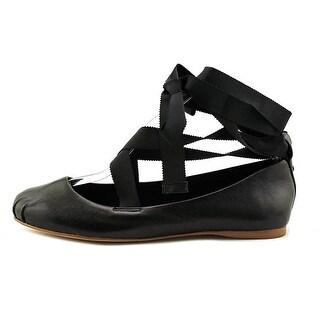 BCBGeneration Womens Talia Closed Toe Ankle Wrap Ballet Flats
