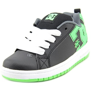 DC Shoes Court Graffik Round Toe Leather Skate Shoe