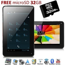 Indigi® 7inch 2-in-1 Android 4.2 Jellybean TabletPC + SmartPhone w/ Dual-Cameras + Dual-Sim + WiFi + 32gb microSD Included