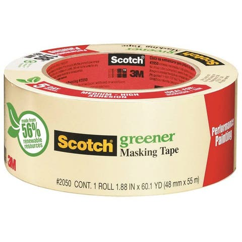 "Scotch 2050-72A Greener Masking Tape for Performance Painting, 2.82"" x 60.1 Yd"