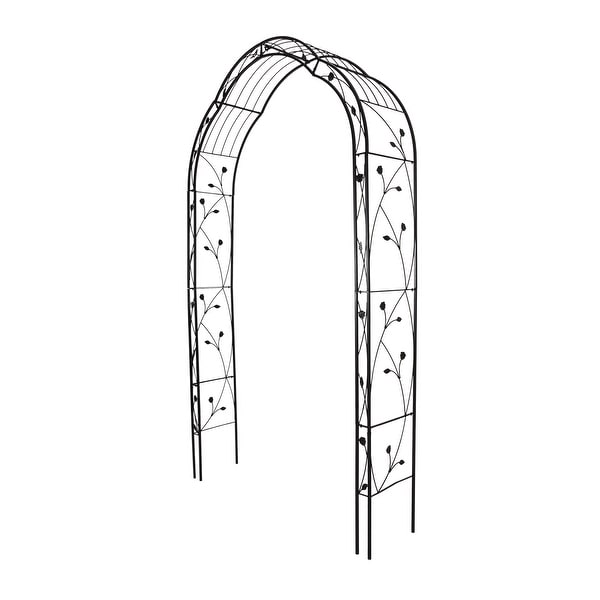 Kinbor Metal Garden Arch, 8.8 Feet High x 4.9 Feet Wide Outdoor Wedding Arch for Climbing Plants, Lawn, Party Decoration. Opens flyout.