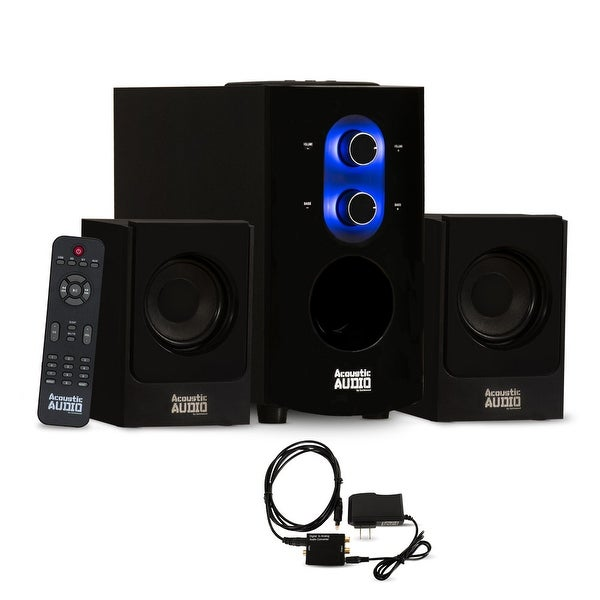 Acoustic Audio AA2130 Bluetooth Home 2.1 Speaker System with Optical Input