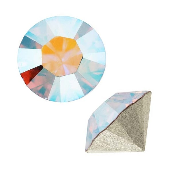 Swarovski Elements Crystal, 1028 Xilion Round Stone Chatons pp10, 50 Pieces, Crystal AB