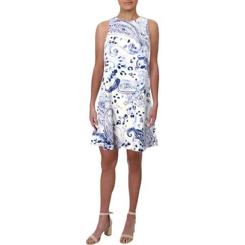 1b06d36a2b4e4 Lauren Ralph Lauren Womens Petites Wear to Work Dress Floral Print Mini
