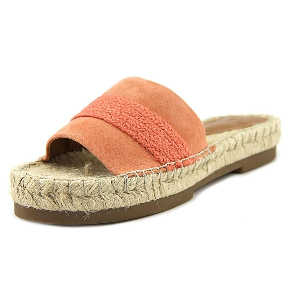 H by Halston Betty Women Open Toe Suede Pink Slides Sandal