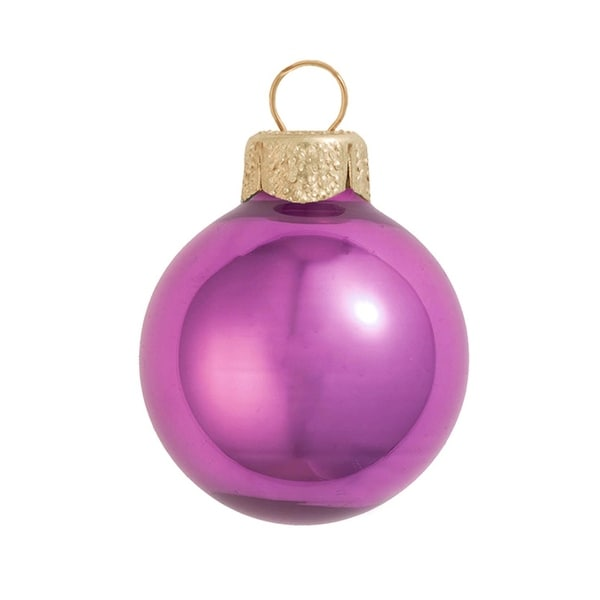 """8ct Pearl Dusty Rose Pink Glass Ball Christmas Ornaments 3.25"""" (80mm)"""