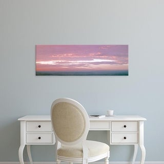 Easy Art Prints Panoramic Image 'Clouds over the Pacific Ocean at sunset, La Jolla, San Diego, California' Canvas Art