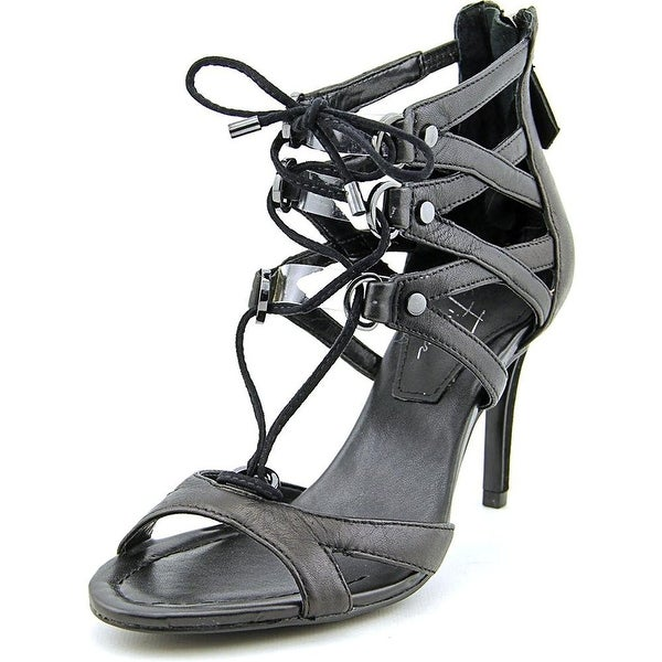 Marc Fisher Womens Polama2 Leather Open Toe Special Occasion Strappy Sandals