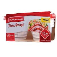 Rubbermaid 1803522 TakeAlongs Mini Food Containers, 6 Piece