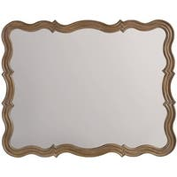 """Hooker Furniture 5180-90004 37"""" x 47"""" Rectangular Framed Mirror from the Corsica Collection - light natural acacia"""