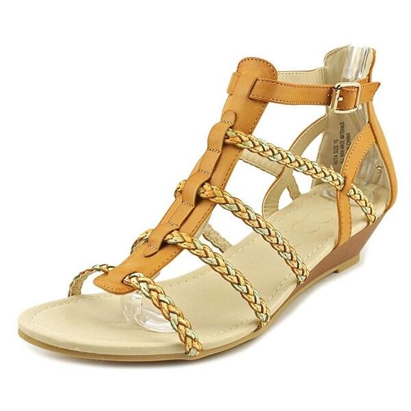 Groove Rita Women Open Toe Leather Brown Sandals
