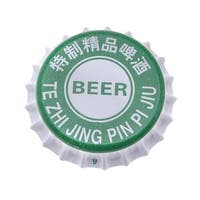 Printed Green White Crown Bottle Caps Craft Scrapbook No Liners (50)