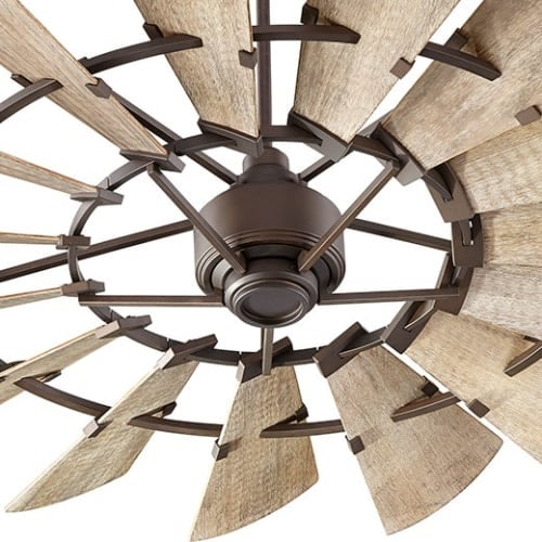 """Quorum International 96015 60"""" Ceiling Fan with Wall Control from the Windmill Collection"""