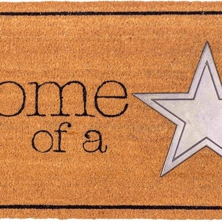 Fab Habitat - Home of a Star Doormat 18 x 30, Non-Slip, Durable