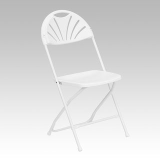 Rivera Heavy Duty Plastic Folding Chair, White, Fan Back   Free Shipping On  Orders Over $45   Overstock.com   26305509