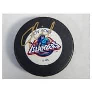 Signed Fichaud Eric New York Islanders New York Islanders Hockey Puck autographed