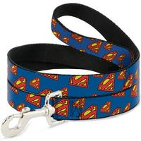 Dog Leash - Super Shield Diagonal Royal Blue Red