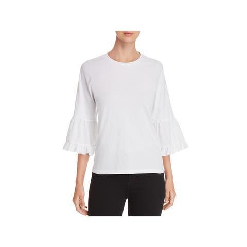 Kobi Halperin Womens Libby Blouse Cotton Bell Sleeves - XS