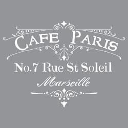 "Cafe Paris - Americana Decor Stencil 12""X12"""