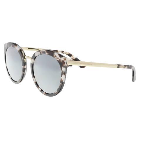 0d23b07b4b74 Dolce & Gabbana DG4268 28886G Cube Havana Fog Cat Eye Sunglasses - 52-22-