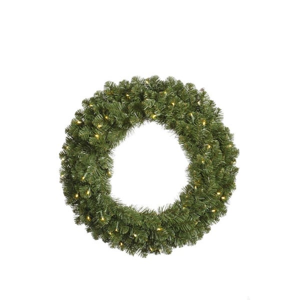"""48"""" Pre-Lit Double-Sided Grand Teton Artificial Christmas Wreath - Clear LED"""