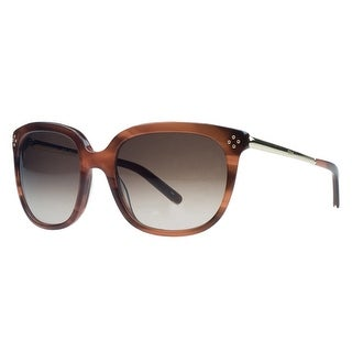 Chloe CE642/S 282 Stiped Brown Wayfarer Sunglasses - 55-19-130