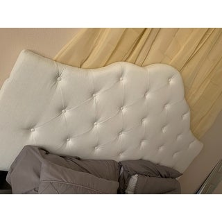Marlen Adjustable Full/ Queen Tufted Fabric Headboard by Christopher Knight Home