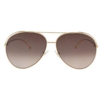 Fendi FF0286S 0DDB Gold Copper Aviator Sunglasses - 63-13-135