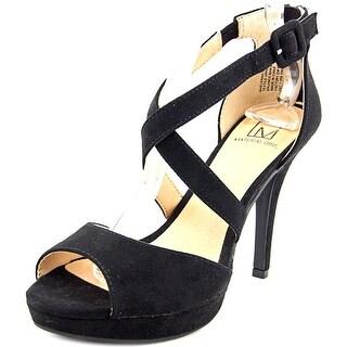 Material Girl Helenah Women Black Sandals