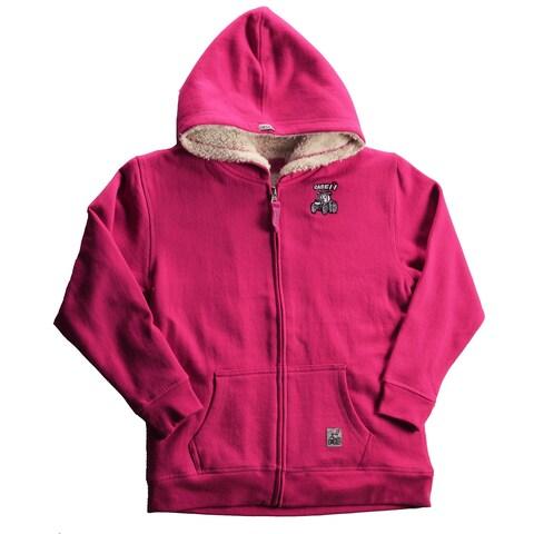 Case IH Little Girl's Zip-Up Sherpa Hoodie