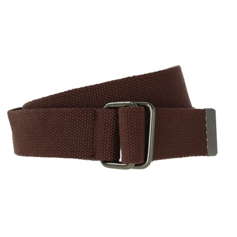 CTM® Fabric Web Belt with D Ring Buckle