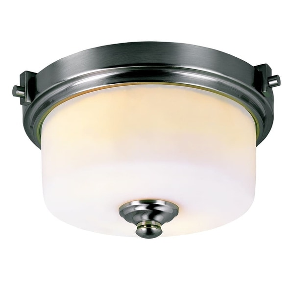 Trans Globe Lighting 7923 Two Light Semi Flush Ceiling Fixture from the Young and Hip Collection - Brushed nickel