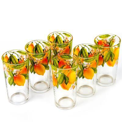 STP Goods Juicy Lemons Highball Glasses Set of 6