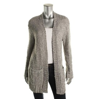 Make + Model Womens Crochet Open Front Cardigan Sweater - M