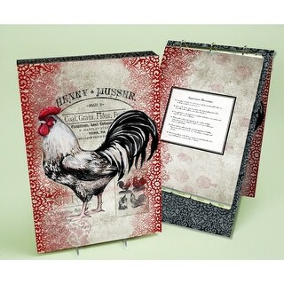 Cardinal Rooster Vertical Recipe Album, Lang Folk Art by Lang Companies