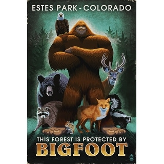 Estes Park, Colorado - Respect Our Wildlife - Bigfoot - Lantern Press Artwork (Poker Playing Cards Deck)